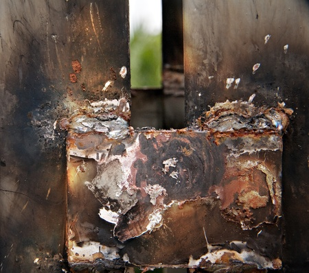 Weld steel. photo