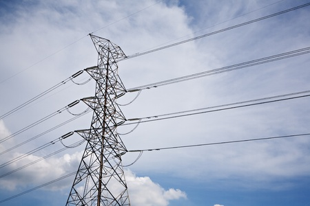 High voltage transmission towers to itself  photo