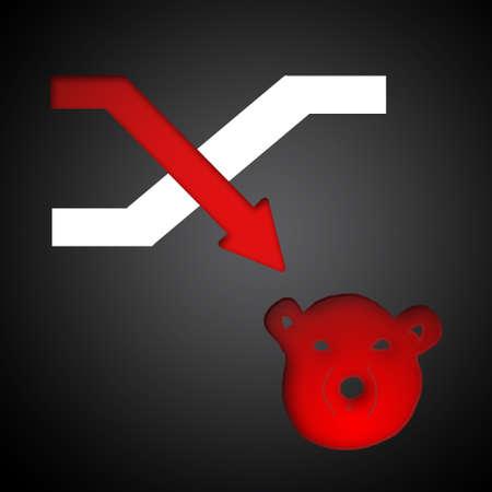 market trends: Bear symbols of stock market trends