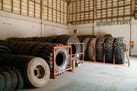Shed mining tires photo