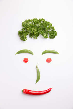 Eating vegetables, having a good health photo