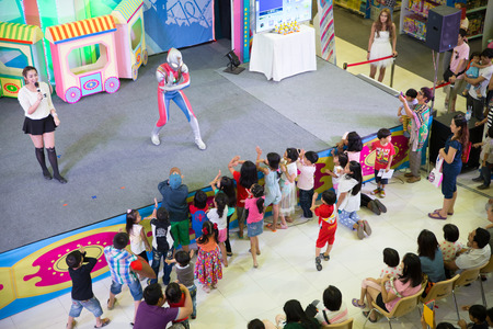 BANGKOK, THAILAND - JAN 5  Activities of the Fashion Island shopping mall  Activities for children called  Toy world  with many toys sold on Sunday, January 5, 2014 in Bangkok, Thailand  Редакционное