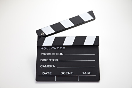 Closed cinema slate  Customizable and Isolated over white