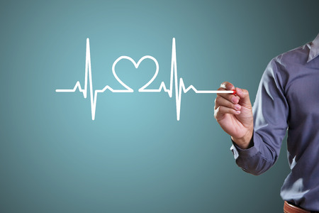 Drawing symbols heart health Stock Photo