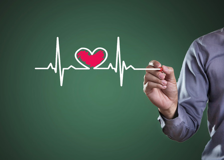 Drawing symbols heart health Фото со стока