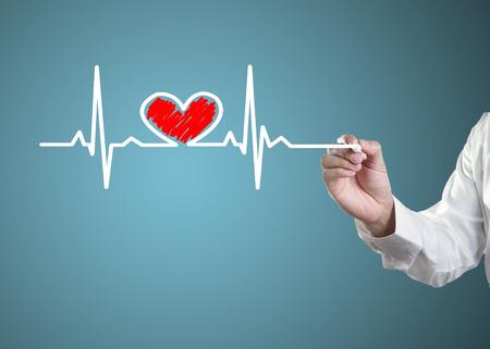 tachycardia: S�mbolos de dibujo la salud del coraz�n