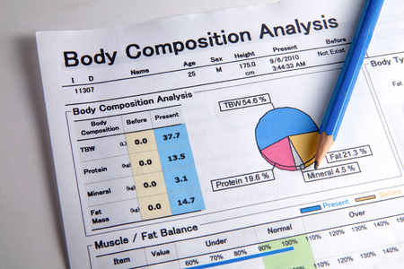 Analysis of body composition.