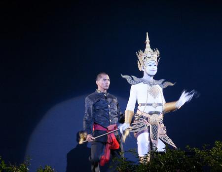 joe louis: BANGKOK, THAILAND - November 14: Puppet Theater of Dance Sala (Joe Louis), the amphitheater to celebrate the crematorium. HRH Princess Galyani Princess Galyani Wattana Department Luang Narathiwat At Sanam Luang on Friday, November 14, 2008 in Bangkok, Tha Editorial