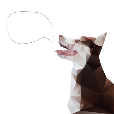 Dog abstract isolated on a white backgrounds Vector