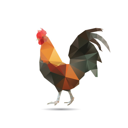 Abstract cock isolated on a white backgrounds Vector