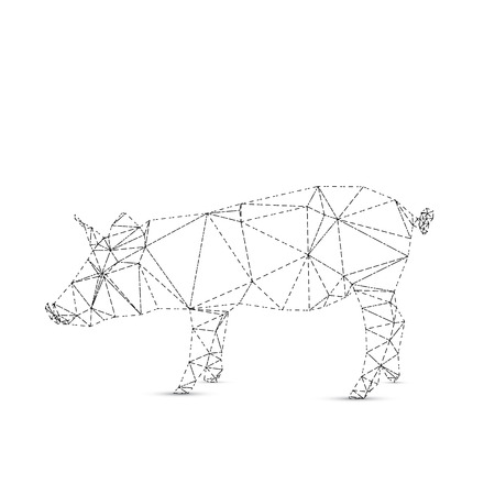 Abstract pig isolated on a white backgrounds, vector illustration Vector