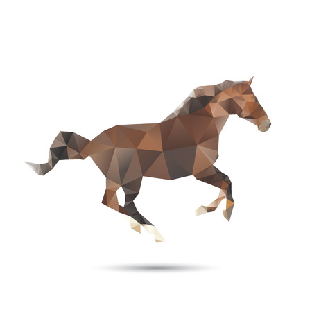 Horse abstract isolated on a white backgrounds