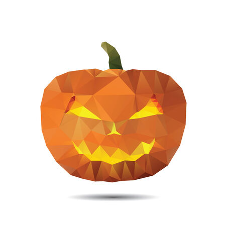Halloween greeting card with pumpkin of triangle Vector