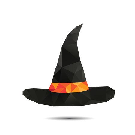 Halloween vector background. Triangles hat Vector
