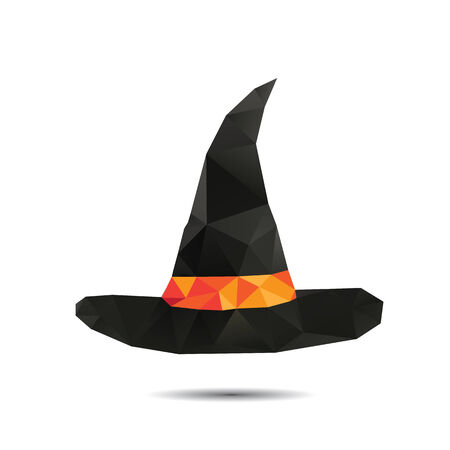 Halloween vector background. Triangles hat Vector