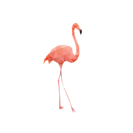 flamingo geometric (illustration of a many triangles) Vector