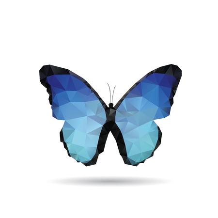 白い背景で隔離の蝶  イラスト・ベクター素材