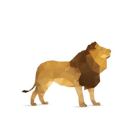 Abstracte leeuw geïsoleerd op een witte achtergrond