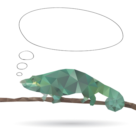 Abstract Iguana isolated on a white backgrounds Vector