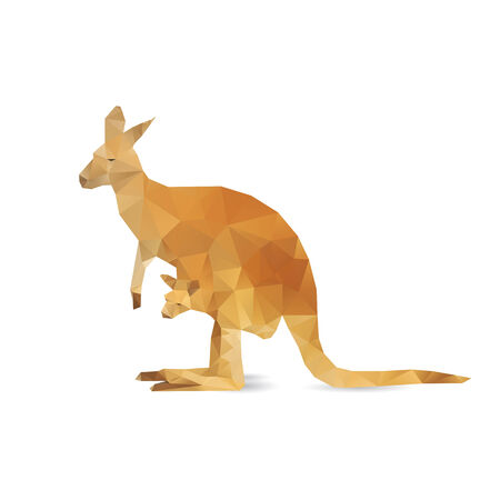 Abstract kangaroo isolated on a white backgrounds