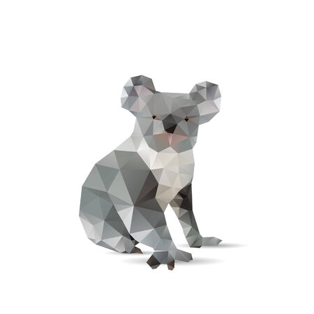 Abstract koalas isolated on a white backgrounds Vector
