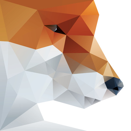 Find Similar Images Fox abstract isolated on a white backgrounds