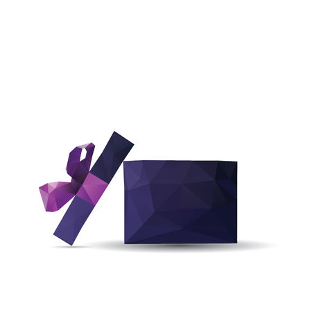 Abstract Creative concept vector icon of gift box for Web and Mobile Applications isolated on background. Vector