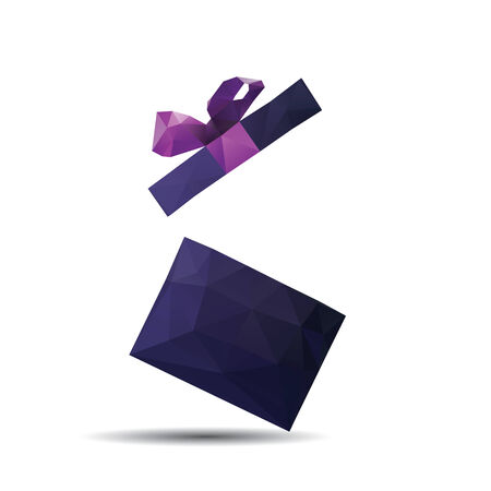 Abstract Creative concept vector icon of gift box for Web and Mobile Applications isolated on background.