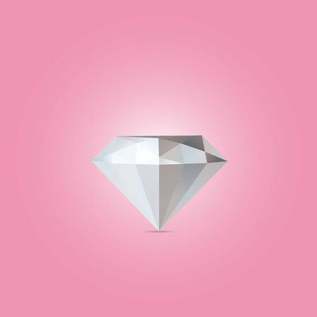 pink backgrounds: Abstract diamond isolated on a pink backgrounds