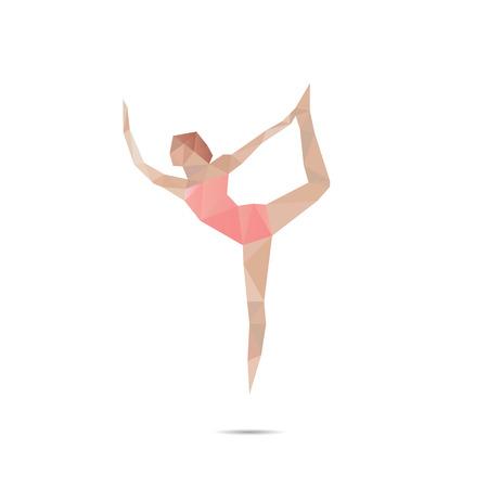 asanas: Abstract background representing yoga asanas Illustration