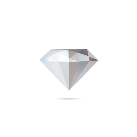 diamond shaped: Abstract diamond isolated on a white backgrounds