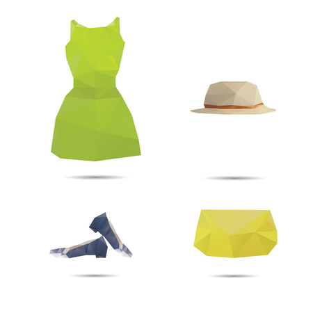 Woman fashion style isolated on a white backgrounds