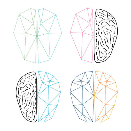 muse: Abstract brain isolated on a white backgrounds