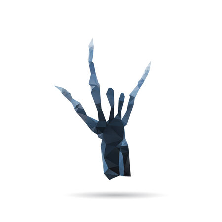 degeneration: X-ray hand isolated on a white backgrounds