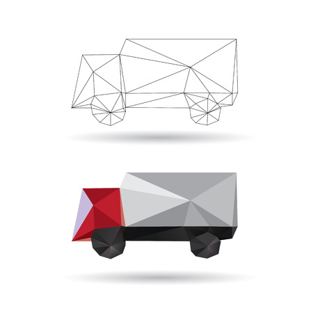 Red Truck isolated on a white backgrounds Vector