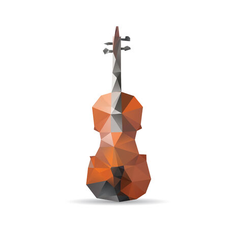 Violin isolated on a white backgrounds Illustration