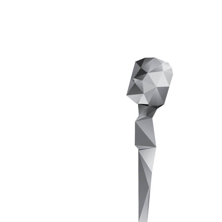 Microphone isolated on a white backgrounds