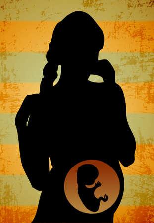 siluet: pregnant women