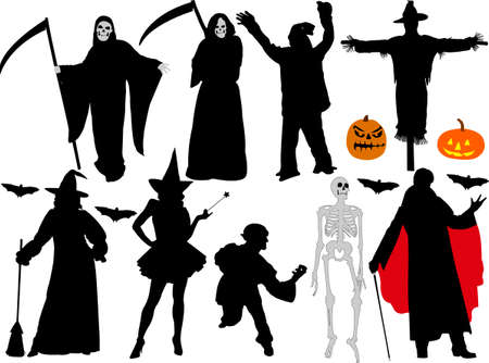 halloween vector silhouettes Vector