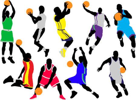 basketball players vector Vector