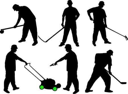 rakes: gardener collection silhouettes