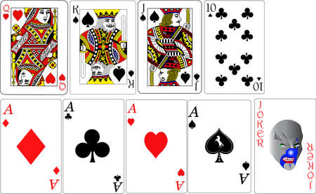 decks: set of playing cards vector