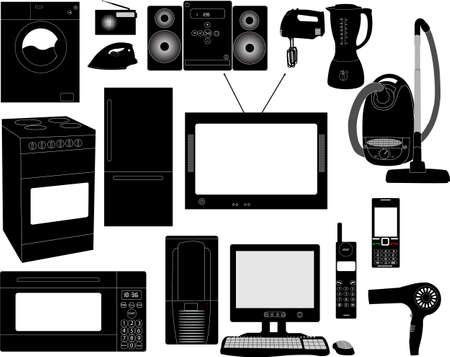 huishoudelijke apparaten  Vector Illustratie