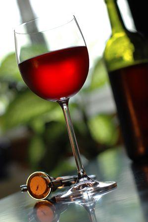 vino: glass of red wine Stock Photo