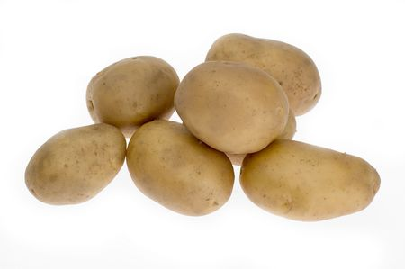 vitamines: potatoes on white