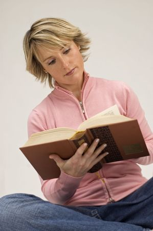 young women reading a book Stock Photo - 593556