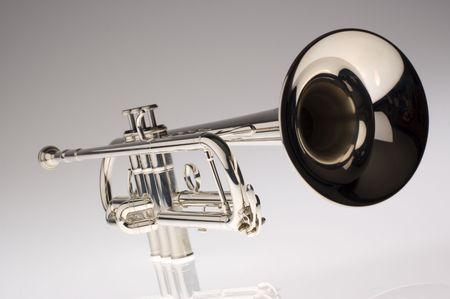 fanfare: trumpet close up Stock Photo