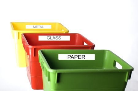 colorful containers for trash separation close up Stock Photo - 599982