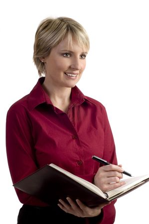 young business woman writing on note book Stock Photo - 633984