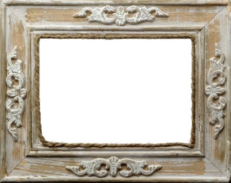 picture frame close up on white background photo